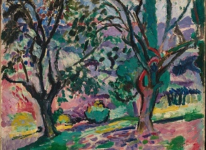Henri Matisse (French, Le Cateau-Cambrésis 1869–1954 Nice) Olive Trees at Collioure, summer 1905 (?) Oil on canvas; 17 1/2 x 21 3/4 in.  (44.5 x 55.2 cm) The Metropolitan Museum of Art, New York, Robert Lehman Collection, 1975 (1975.1.194) http://www.metmuseum.org/Collections/search-the-collections/459161