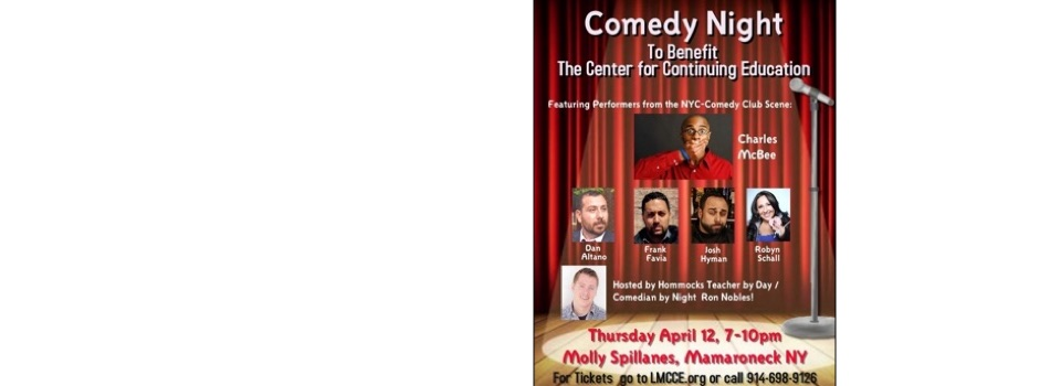 Comedy Night FUNdraiser to Benefit The Center for Continuing Education!