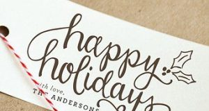 "Cursive Handwriting with a ""Holiday Twist"""